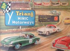 Tri-ang Minic Motorways- had one of these when I was a kid. Loved it, a mini Scalextric with Matchbox sized cars. I had a double decker bus that would leave everything else standing !