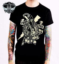 Liquor Brand T-Shirt FTW Spade.Tattoo, Biker, Oldschool, Rockabily, Custom Style