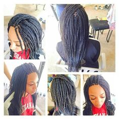 Platinum, black, and burgundy Box braids | All Natural ...