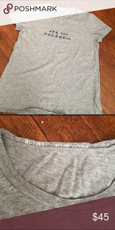 Madewell gray tee shirt Size medium. Very good condition. Madewell Tops Tees - Short Sleeve