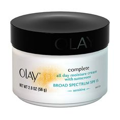 Olay Complete Moisture Cream SPF 15 Sensitive Skin 2 oz ($5) ❤ liked on Polyvore featuring beauty products, skincare, face care, face moisturizers, olay face moisturizer, olay, sensitive skin face moisturizer and face moisturizer