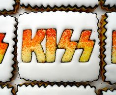 KISS cookies! Scott would love these! From oh Sugar!