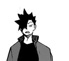 That's the most relatable face I've seen in awhile. Kuroo Haikyuu, Kuroo Tetsurou, Akaashi Keiji, Kenma, Haikyuu Anime, Manga Pictures, Me Me Me Anime, Anime Manga, Hinata