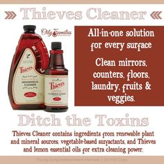 Thieves Cleaner. Ditch the toxins and keep your house clean! #essentialoils #thieves