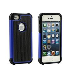 Buy Iphone 5 Case,Iphone 5s Case,iphone se case,jo-box-mall Lightweight and Convenient Dual Layer Shockproof Case Hard Pc Outer Shell with Soft Inner Tpu Hard Cover (blue) NEW for 6.88 USD | Reusell