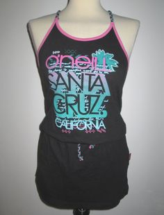 * * * O NEILL Badekleid schwarz/pink/türkis, Gr.152 * * * Strand, Pink, Tank Tops, Fashion, Sun, Bathing, Black, Gowns, Moda