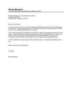 Esthetician Cover Letter   Http://www.resumecareer.info/esthetician