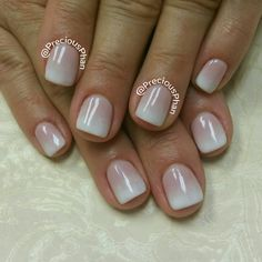 French, Ombre nude nails. #PreciousPhanNails