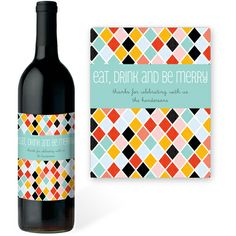 Eat, Drink and Be Merry Wine Labels