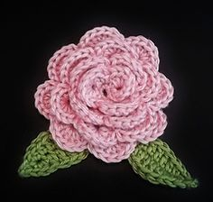 Rosa Flower pattern by Carlinda Lewis