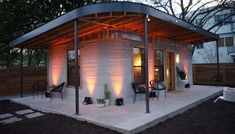 Many people lack adequate housing, but Icon, an Austin construction company, wants to change that. The company recently introduced a concrete house that was printed in less than 24 hours at a fraction of the cost of an average home. 3d Printed House, Printed Concrete, 3d Foto, Community Housing, Sustainable City, Sustainable Living, Home Icon, Affordable Housing, Building A House