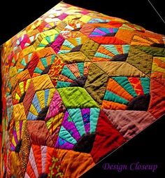 Kaffe Fassett, a life in colour Bright Quilts, Colorful Quilts, Small Quilts, Jellyroll Quilts, Scrappy Quilts, Patchwork Quilting, Mini Quilts, Quilting Projects, Quilting Designs