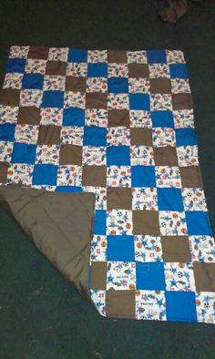 Sport themed baby quilt