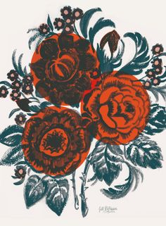 Dora's Floral by Jill De Haan, via Behance