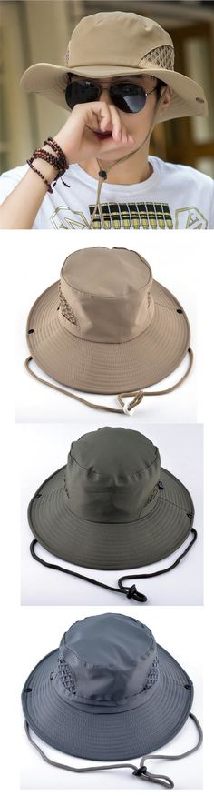 f67c6c3a674 Mens Foldable Wide Brim Mesh Breathable Fisherman Hat Outdoor Sunshade Bucket  Cap Beach Hat Fisherman s Hat