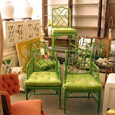 resale and used-a-bit shops offer eclectic and colorful one-of-a-kind finds for the home