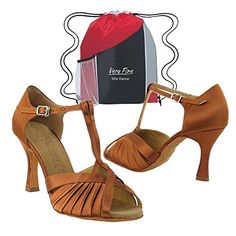 170cabc71c 2707 Ladies' Bronze Satin Ballroom Latin Dance Shoes with Heel by Very Fine  (Elite Bundle with Shoebag) Size (*Partner Link)
