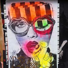 More #madness and #beauty courtesy of @dain_nyc #streetart #graffiti #pasteups #wheatpaste #soho #nycstreetart #urbanart