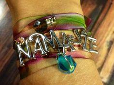Namaste Silk ribbon bracelet by FeatheredPeace on Etsy, $25.00