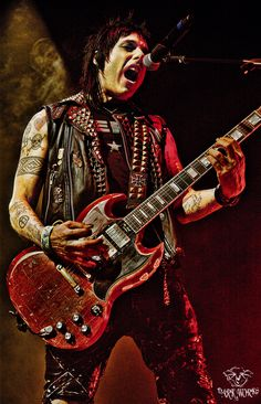 """Here we have Mr Tommy """"DisVicious1"""" Henriksen currently playing guitar for Alice Cooper. An amazing well rounded musician!"""