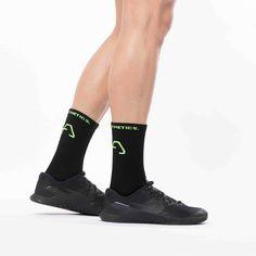 Sport Socks, Lycra Spandex, Gym Wear, Free Gifts, All Black Sneakers, Heels, Green, How To Wear, Fashion