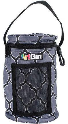 "New! Artbin Mini Yarn Drum! See why it's a crafter's favorite organizer. ArtBin+Mini+Yarn+Drum+5.75""x9.5""-Black+&+Gray"