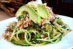 Sprouted Quinoa cucumber advocado salade