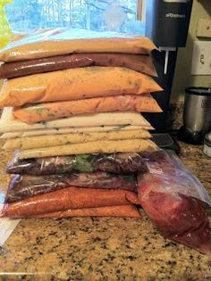8 great freezer meals! All Dump recipes - no prep ahead of time. AAHHH! That's what I'm talking about!!