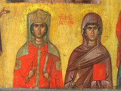 Orthodox Icons, Sacred Art, Saints, Painting, Beautiful, Women, Style, Fresco, Swag