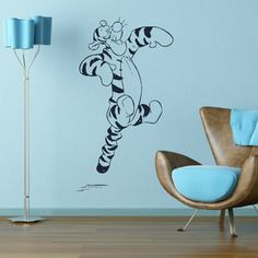 TIGGER WHINNIE THE POOH wall sticker art decal giant stencil vinyl mural bn64