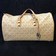 68ac51550a36 Michael Kors Grayson large vanilla duffle bag--my next splurge (in brown  though