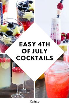 The Fourth calls for impressive-looking red, white and blue drinks. Here, 4th of July cocktails that are deceptively easy to whip up for a crowd. #cocktail #summer #recipes