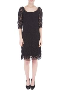 HUNZA - Sleeve Black Dress