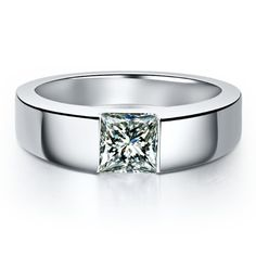 This item is HOT! 1Ct Princess Cut ... click 2 order  http://i-saledresses.myshopify.com/products/1ct-princess-cut-solitaire-male-rings-vintage-floating-charms-men-wedding-rings-high-quality-925-sterling-silve3r-jewelry?utm_campaign=social_autopilot&utm_source=pin&utm_medium=pin   We Ship Internationally!