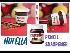 Diy tutorial: NUTELLA pencil sharpener recycling a cap of hair mousse! - YouTube
