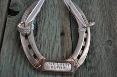 Ring bearer horseshoe, western weddings, custom ring bearer pillow alternative, irish good luck, irish wedding