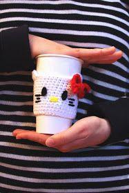 Fancy That Notion: Guest Post: Hello Kitty Coffee Cozy Pattern