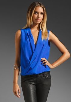 AMANDA UPRICHARD Aspen Blouse in Royal at Revolve Clothing - Free Shipping!