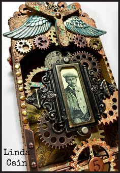 FRIENDS in ART: A Steampunk Shrine with Rust Pastes and Patina Pastes