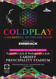 Coldplay A Head Full of Dreams Tour Cardiff 11 July 2017