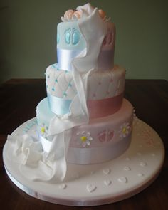 VHCakes - Christening Cake for Twins