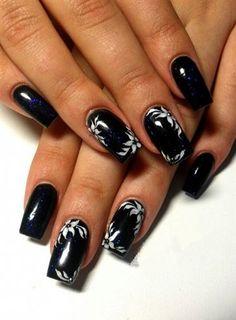 dark blue - black by Antra - Nail Art Gallery nailartgallery.nailsmag.com by Nails Magazine www.nailsmag.com #nailart