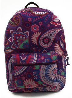 "17"" Lovely Purple Paisley Backpack Case Pack 24  #backpack #bag #shoulderbags #YLEY #Happy4Sales #L09582 #highschool #bagshop #fashion #kids #WomenWallets #handbags"