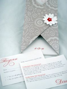 wedding invites - flower dreams