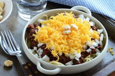 I had never heard of Cincinnati chili before, but this recipe caught my eye. I discovered it even has its own wikipedia page. In this case, it's unique because it uses a little bit of cocoa powder and tends to be a thinner, sauce-like consistency vs traditional chili. Apparently it's delicious over spaghetti (I'm sold). Faith posted the recipe over at a Tasty Kitchen - be sure to leave a comment if you try this for the first time!