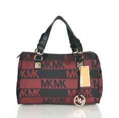 Michael Kors Logo Signature Large Red Satchels Outlet