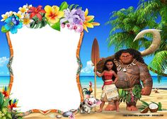 FREE Printable Moana Invitation Templates | FREE Invitation Templates - Drevio