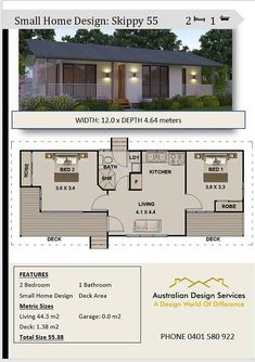 2 bedroom small home design House Plan SALE 55 or 592 House Plans For Sale, Dream House Plans, Modern House Plans, Small House Plans, House Floor Plans, Tiny House Layout, Small Tiny House, Small House Design, House Layouts