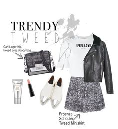 """tweed lover"" by annapac ❤ liked on Polyvore featuring mode, Karl Lagerfeld, MAC Cosmetics, Givenchy, Laura Mercier, Proenza Schouler, Marni, Boutique, women's clothing et women"