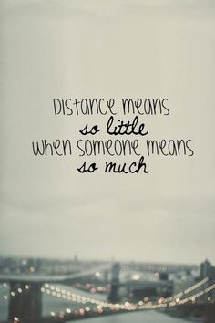 Long Distance Loving - there was never a doubt when we were on opposite ends of the country